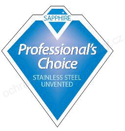 SAPPHIRE Professional's Choice STAINLESS STEEL UNVENTED - ochranná známka