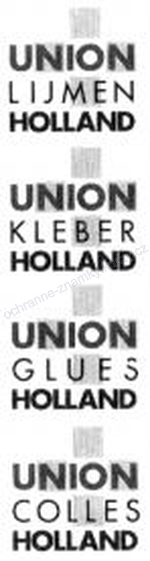 UNION LIJMEN HOLLAND UNION KLEBER HOLLAND UNION GLUES HOLLAND UNION COLLES HOLLAND - ochranná známka